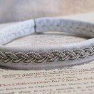 White Swedish Pewter Wire Bracelet