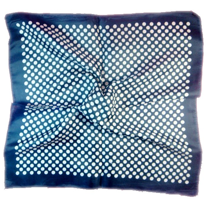 (2S11-SS001-BLK& WHT) Scarf/ Small scarf/ Small Square Scarf/ Lady small scarf - Black & White Dots