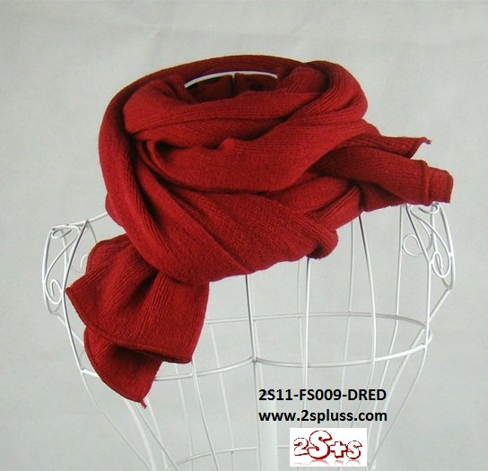 (2S11-FS009-DRED) Unisex Super Long fashion scarf 200cm*60cm in Dark Red colour