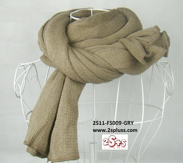 (2S11-FS009-GRY) Unisex Super Long fashion scarf 200cm*60cm in Gray colour