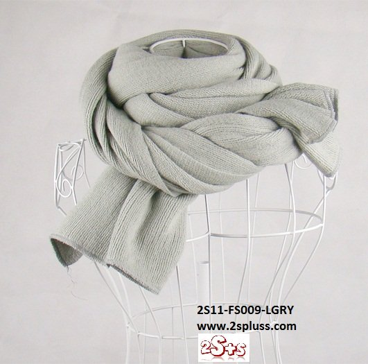 (2S11-FS009-LGRY) Unisex Super Long fashion scarf 200cm*60cm in Light Gray colour