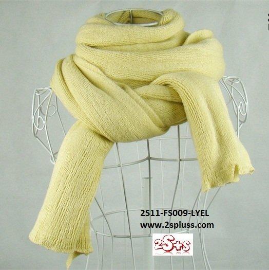 (2S11-FS009-LYEL) Unisex Super Long fashion scarf 200cm*60cm in Light Yellow colour