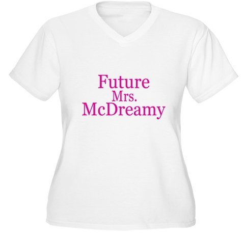 Future Mrs. McDreamy Women's Plus Size V-Neck T-Shirt