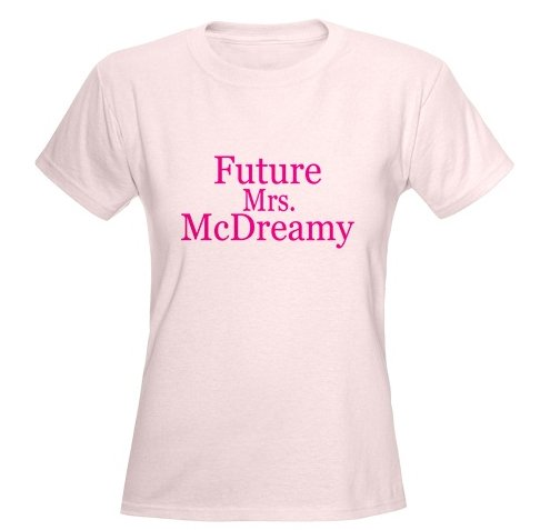Future Mrs. McDreamy Women's Pink T-Shirt