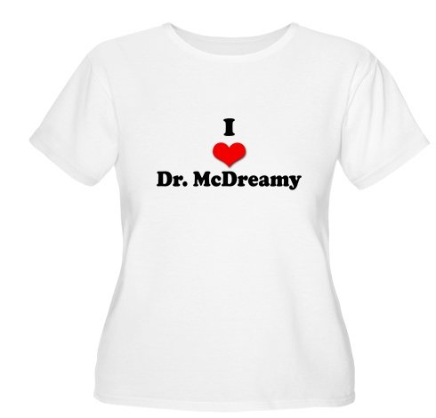 I Heart Dr. McDreamy Women's Plus Size Scoop Neck
