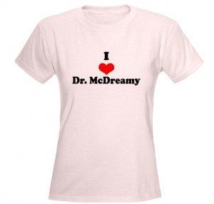 I Heart Dr. McDreamy Women's Pink T-Shirt