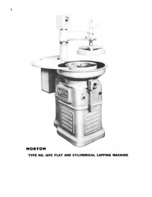 Norton 16FC Universal Lapping Machine Manual