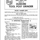 Dumore Series 14 Tool Post Grinder Manual Parts & Oper.