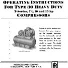 Ingersoll-Rand Type 30 T-Series Air Compressor Manual