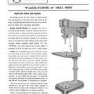 Walker-Turner Rockwell 20 Inch Drill Press Manual