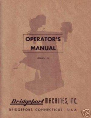 Bridgeport Operators Manual Early J-Head Dovetail Ram