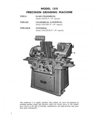 Jones & Shipman Model 1310 Grinding Machine Manual