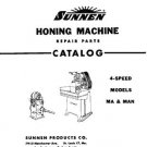 Sunnen Hone Repair Parts Manual For Models MA & MAN
