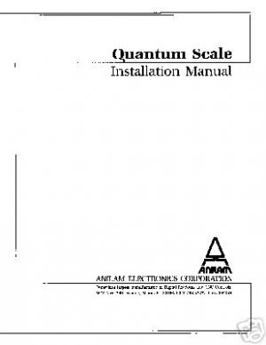 Anilam DRO Quantum Scale Installation Manual
