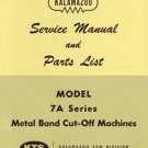 Kalamazoo Service & Parts Model 7A Bandsaw Manual