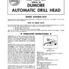 Dumore Series 20 Model 8135 Automatic Drill Head Manual