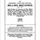 Brown And Sharpe Milling Machines Repair Parts Manual