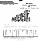 Denison Multipress B D F G and H10 Service Manual