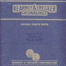 Kearney & Trecker 5H Plain & Universal Mill Part Manual