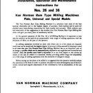 Van Norman Nos 26 & 36 Operation & Parts Manual