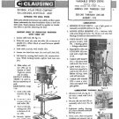 Clausing 20 Inch Drill Press Operating & Parts Manual