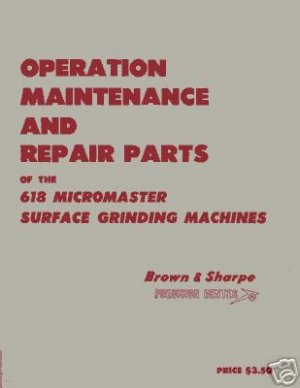 Brown & Sharpe 618 Micromaster Full  Manual