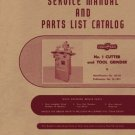 Cincinnati No. 1 Cutter & Tool Grinder Service Manual