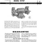 Dayton Model 1Z707 Bench Grinder Instructions & Parts