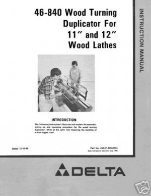 Delta 46-840 Wood Turning Duplicator Manual