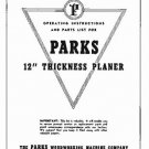 Parks Model 95, 96, and 97, 12 Inch Planer Manual