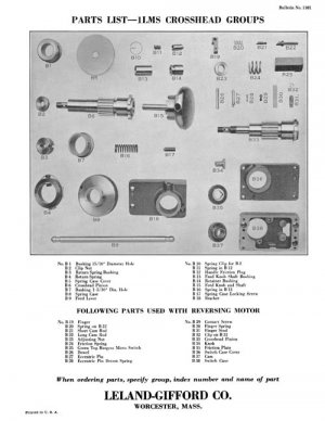Leland Gifford 1LMS, 2LMS, and 3MS Parts Manual