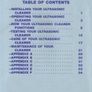 Gesswein Your Ultrasonic Cleaner Manual
