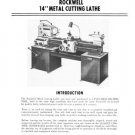 Rockwell 14 Inch Metal Cutting Lathe Manual 1971