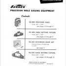 Sunnen Precision Hole Gaging Equipment Operating Manual