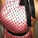 Size M: SEXY RHINESTONE BROOCH PINK BUBBLE POLKA DOT MINI DRESS S/M