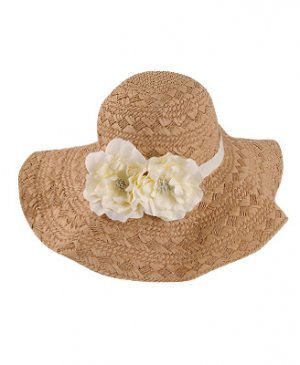 GORGEOUS FLOPPY FLORAL STRAW HAT
