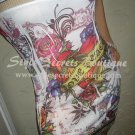 Size M: SEXY RIBBED GOLD BANDED FLORAL TATTOO BANDAGE CORSET MINI DRESS