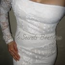 Size S: SEQUINS IVORY REAL HOUSEWIVES GRETCHEN LACE FLORAL PENCIL WIGGLE DRESS
