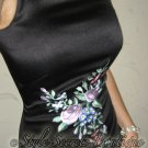 Size S: STUNNING EMBROIDERED FLORAL SHEATH PENCIL WIGGLE DRESS