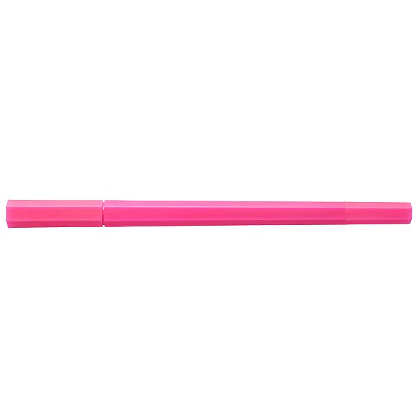 MUJI Japan Double Ended Hybrid Pen HEXAGONAL - Neon Pink