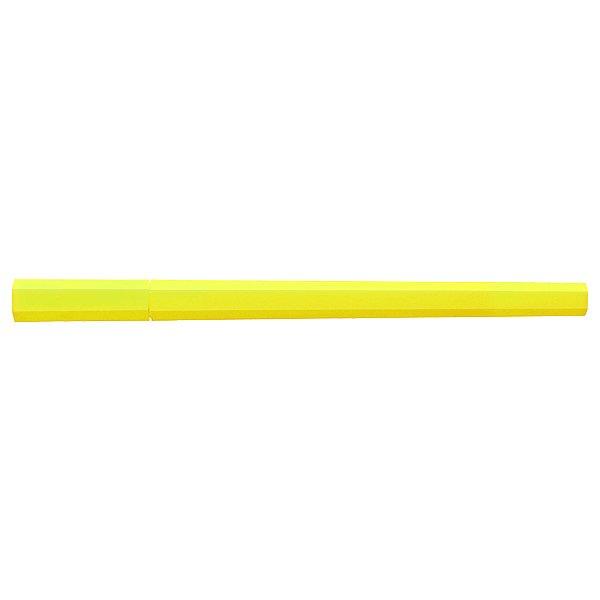 MUJI Japan Double Ended Hybrid Pen HEXAGONAL - Neon Yellow