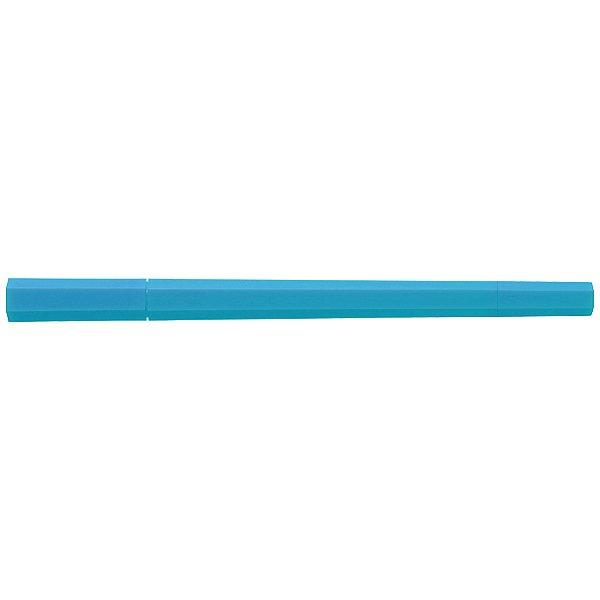 MUJI Japan Double Ended Hybrid Pen HEXAGONAL - Neon Blue