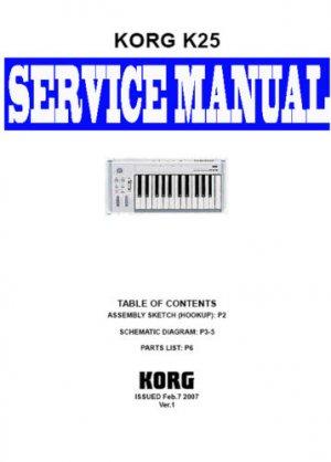 KORG  i5S   i-5s KEYBOARD- SERVICE MANUAL
