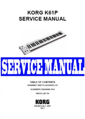 KORG  K61P /  K-61P MIDI KEYBOARD -= SERVICE MANUAL =-