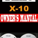 TEAC  X-10 X10  Reel-to-Reel  User / Owner's Manual