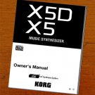 KORG X5  X-5  X5D ** OWNER'S MANUAL **  *Paper