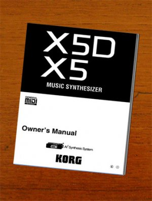 KORG X5  X-5  X5D ** OWNER'S MANUAL **  *Paper