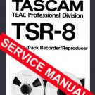 TASCAM TSR-8 Reel-to-Reel 8 track * SERVICE MANUAL *