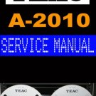 TEAC  A2010 A-2010  Reel-to-Reel  -= Service Manual =-