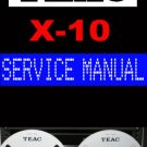 TEAC  X-10 X10  Reel-to-Reel  -= Service Manual =-